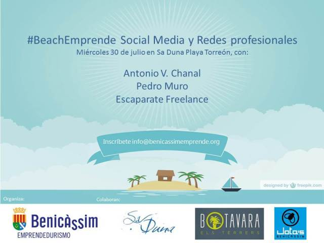 Beachemprende socialmedia